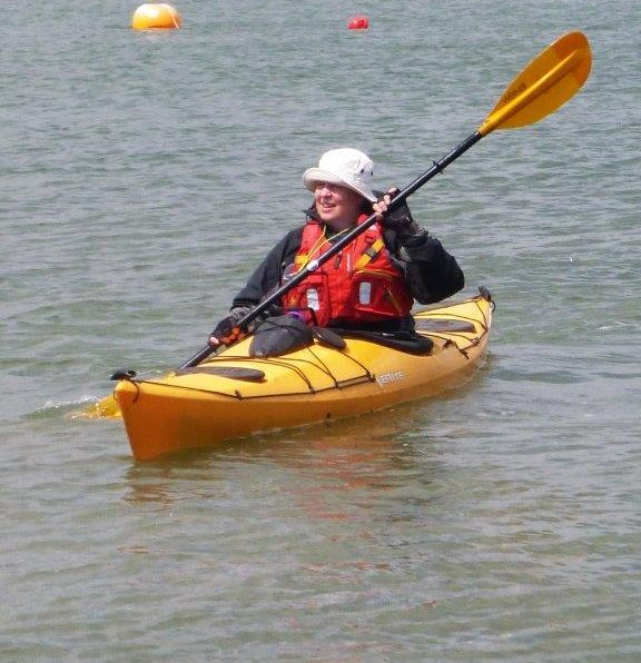 Pic of me kayaking in Chichester Harbour. Kayaking is when I make time to exercise.