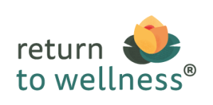 Return to Wellness Logo. Health and wellness coaching and workshop for people living with challenging health issues who want to get their lives back. Includes support for carers too!