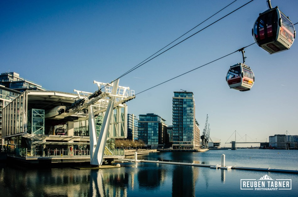 Emirates Air Line at the Royal Docks, London