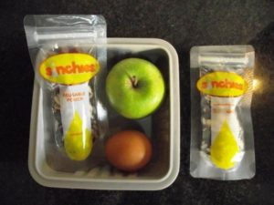 trail mix in healthy lunchbox