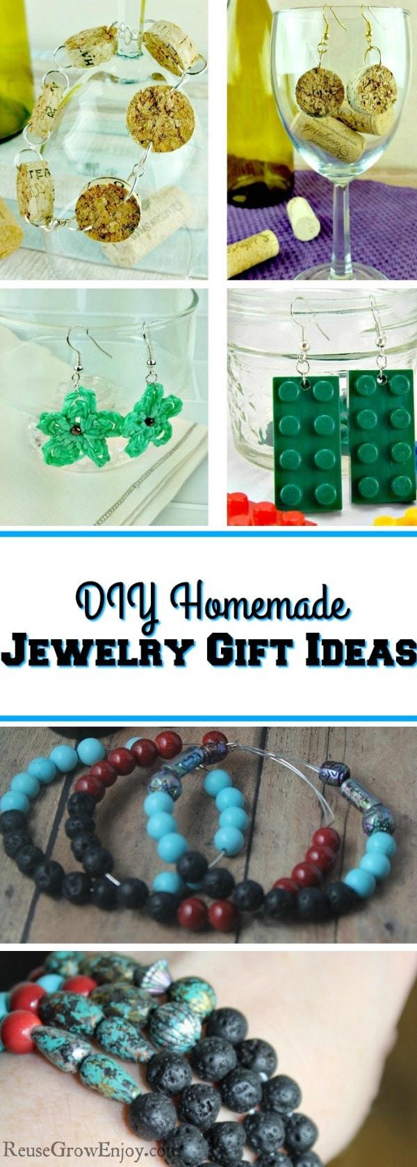 DIY Jewelry Gift Ideas All Homemade Reuse Grow Enjoy
