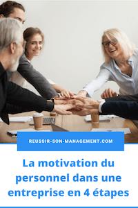 La motivation du personnel dans une entreprise en 4 étapes