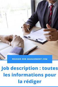 Job description: toutes les informations pour la rédiger