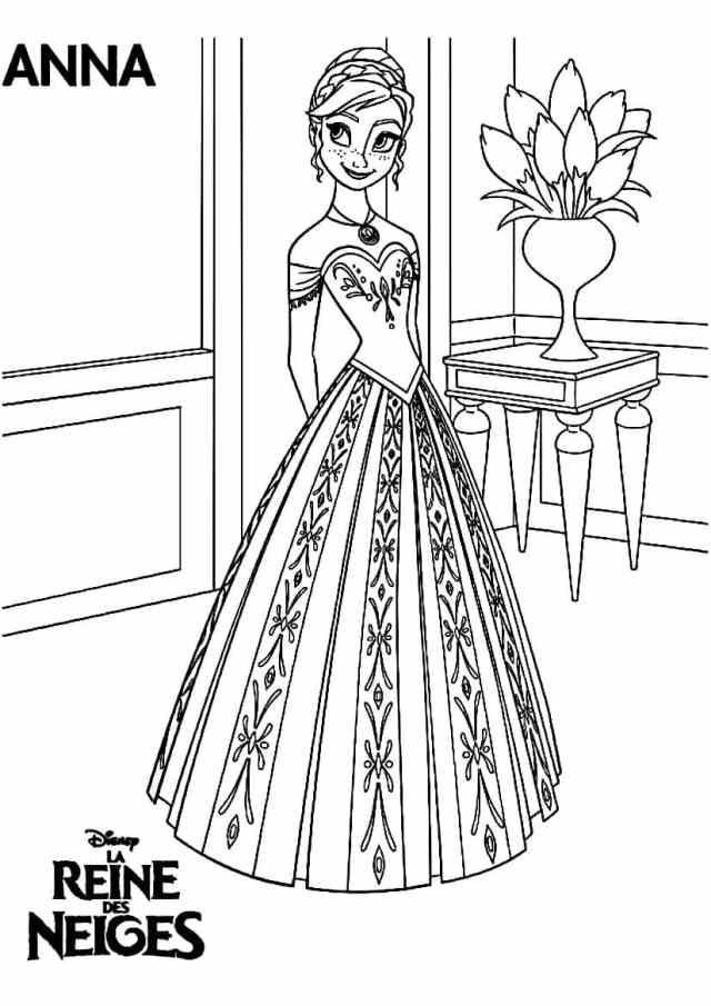 Coloriage Reine des Neiges Gratuit  8 dessins à imprimer en 8 clic