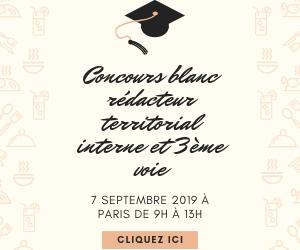 Concours blanc rédacteur territorial 7 septembre 2019