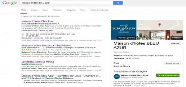 Googleplus_re?seaux_sociaux_recherche_Maison_hote_Bleu_Azur_