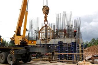 Construction du bâtiment d'ancrage Ouest