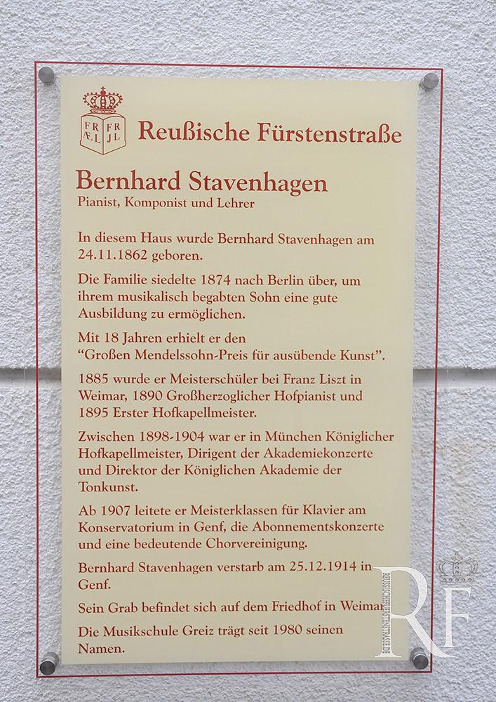 Auf den Spuren von Bernhard Stavenhagen in seiner Geburtsstadt Greiz
