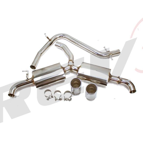 volkswagen golf gti mk6 09 14 2 0t tfsi turbo stainless steel cat back exhaust system