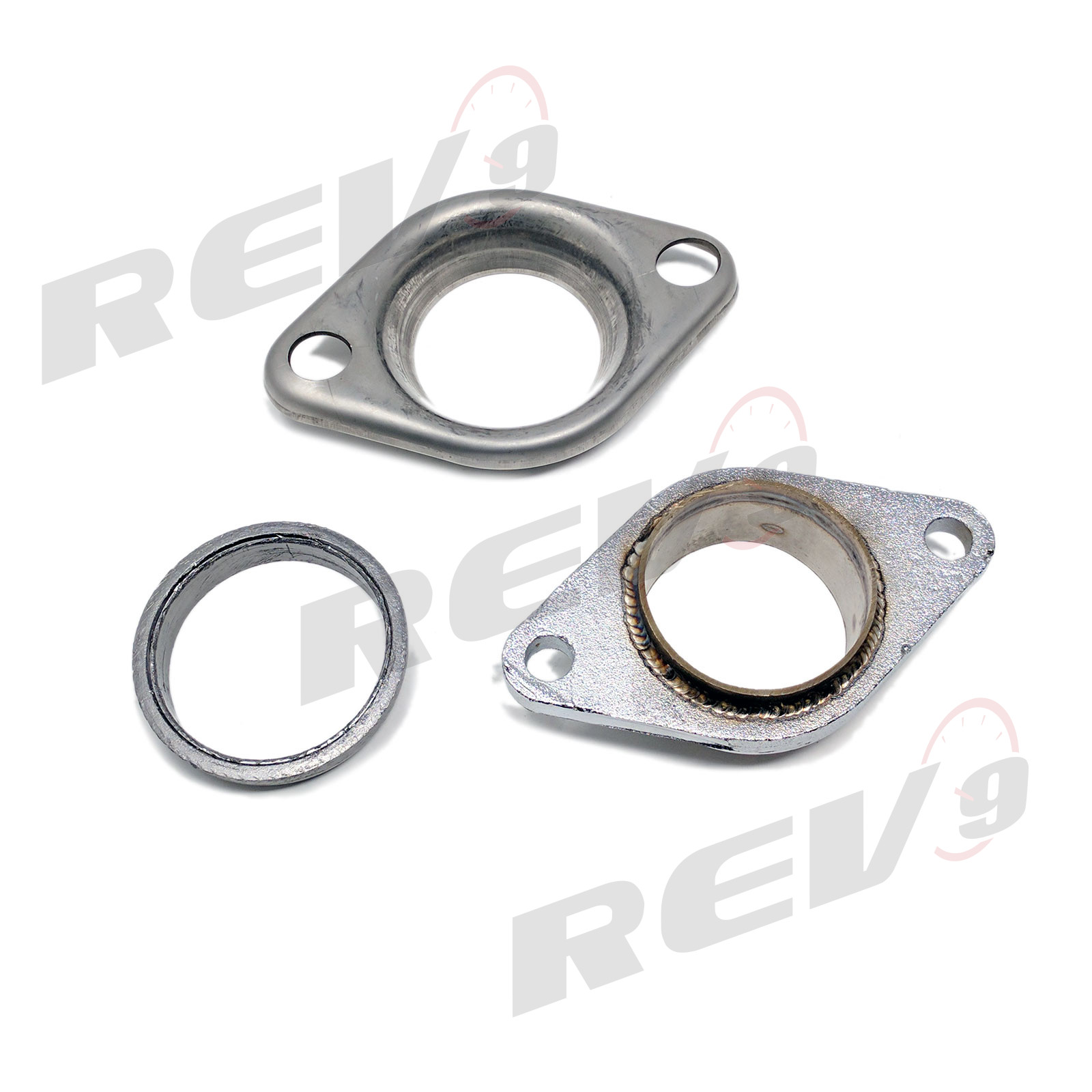 exhaust header test pipe donut gasket with collector flange set 2 5