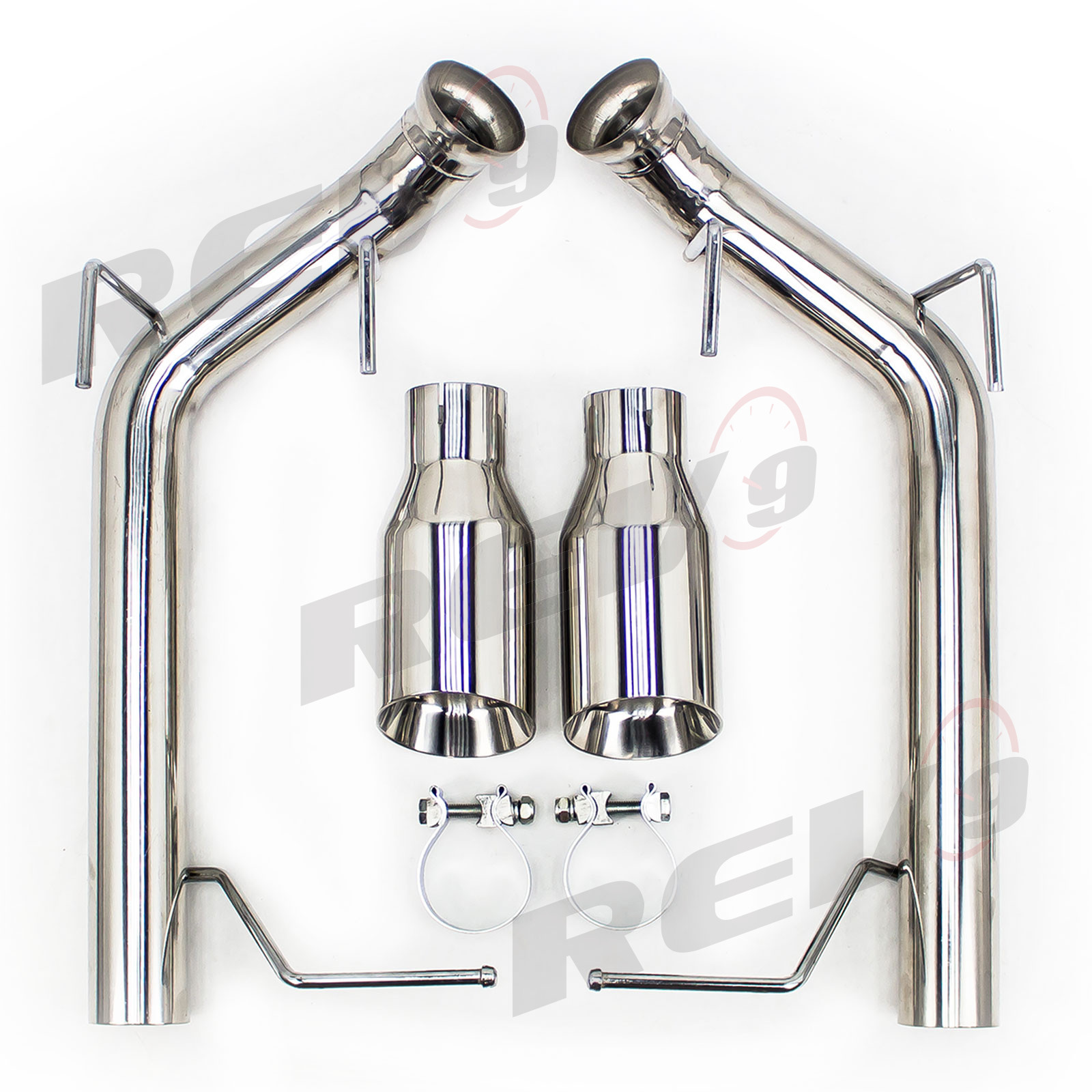 ford mustang 11 14 v8 gt boss 302 gt500 2 5 dual axle back flowmaxx exhaust kit straight pipe