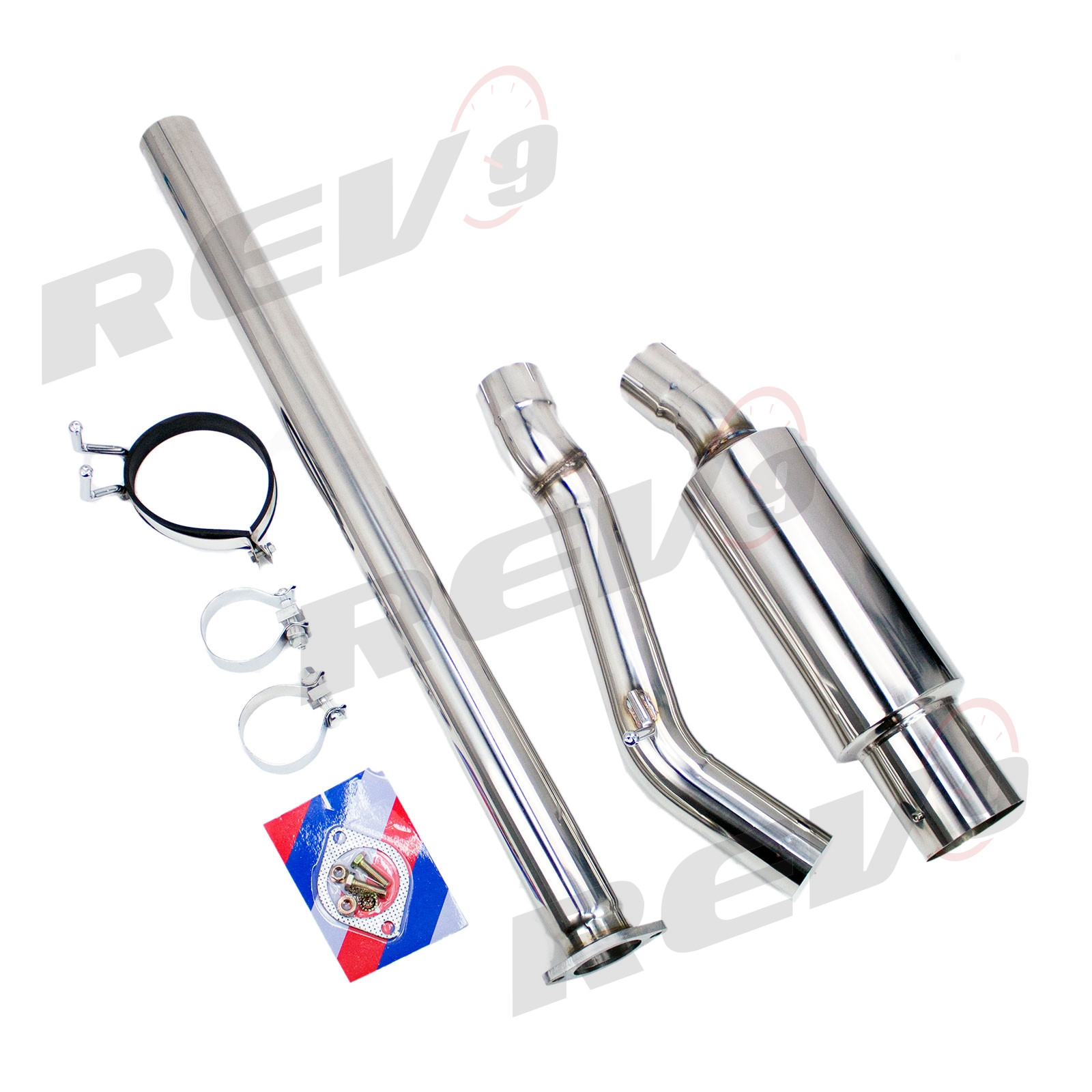 Rev9power Single Exit Cat Back Exhaust Kit Stainless Steel 3 Inch Pipe Mitsubishi Evolution
