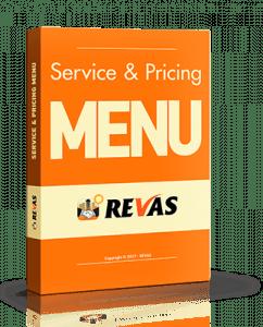 REVAS Service & Pricing Menu :: 3d Book Cover