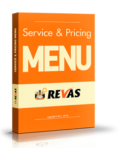 REVAS Service & Pricing Menu :: 3d Book Cover