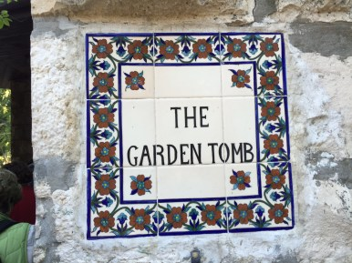 Garden Tomb plaque