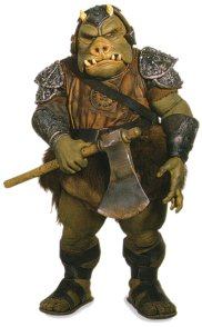 Of course you recognize this Gamorrean Guard from Jabba's palace in Return of the Jedi.