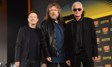 John Paul Jones, Robert Plant, and Jimmy Page, surviving members of Led Zeppelin, from 2012.