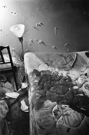 Fred Hampton's bed after his murder by Chicago police.
