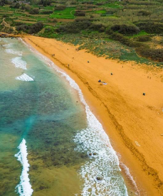 Ramla L-Hamra Beach, Gozo