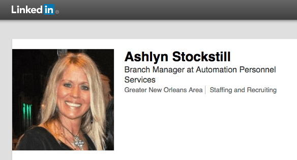 Ashlyn Stockstill is the New Orleans branch manager for Automation Personnel Services.