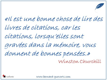 Citation de Churchill sur l'usage des citations.