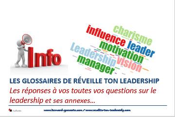 Couverture article glossaires de réveille ton leadership