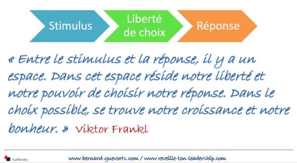 La liberté de choix entre le stimuli et la réponse
