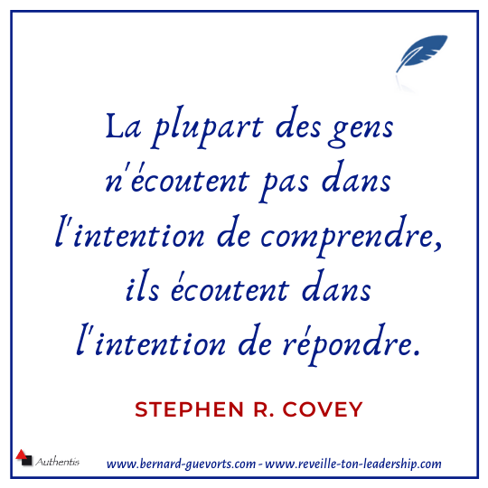 Citation de Stephen Covey sur le dialogue