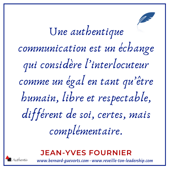 Citation sur la communication authentique