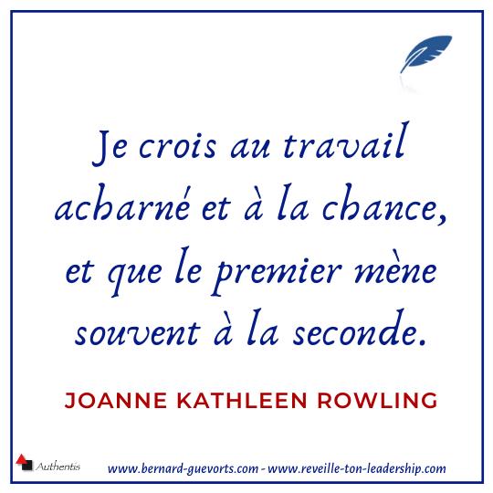 Citation sur le travail et la chance de JK Rowling