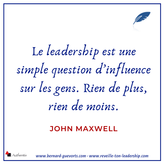 Citation de John Maxwell sur le leadership