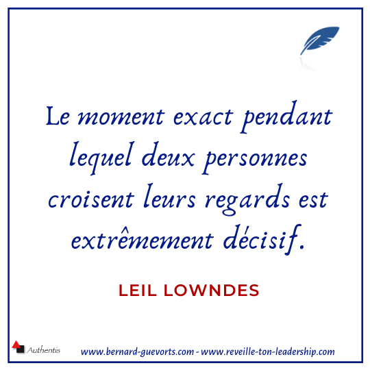Citation sur les regards qui se croisent