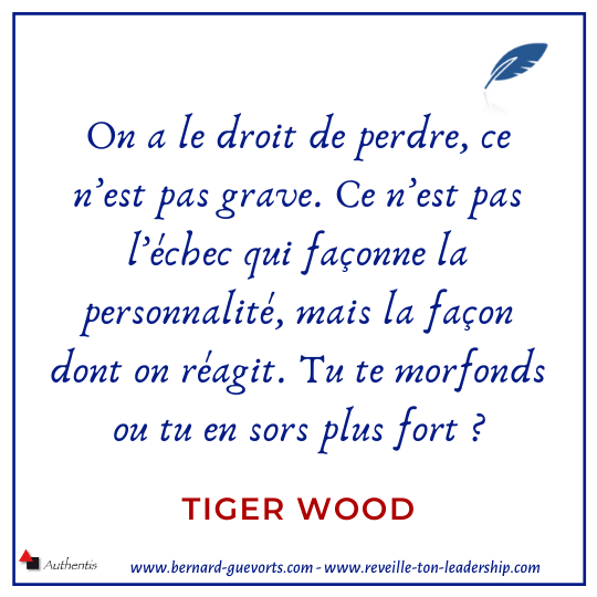 Citation de Tiger Wood sur l'échec
