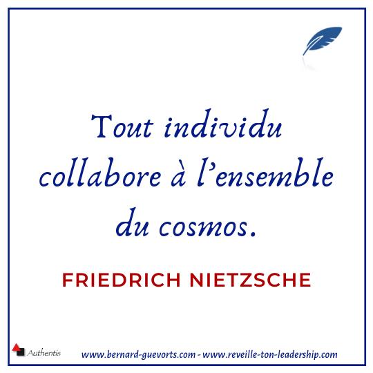 Citation de Nietzsche sur homme et cosmos