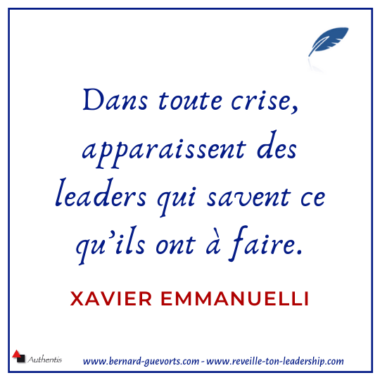 Citation sur la crise et le leader