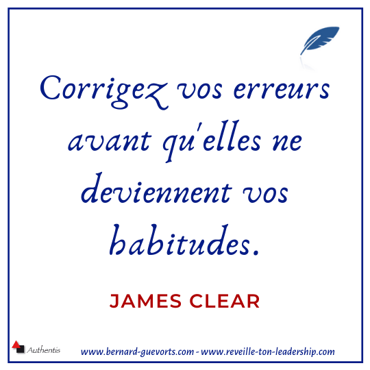 Citation de James Clear sur habitudes