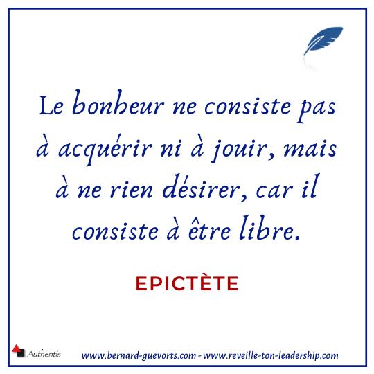 Citation sur le bonheur de Epictète