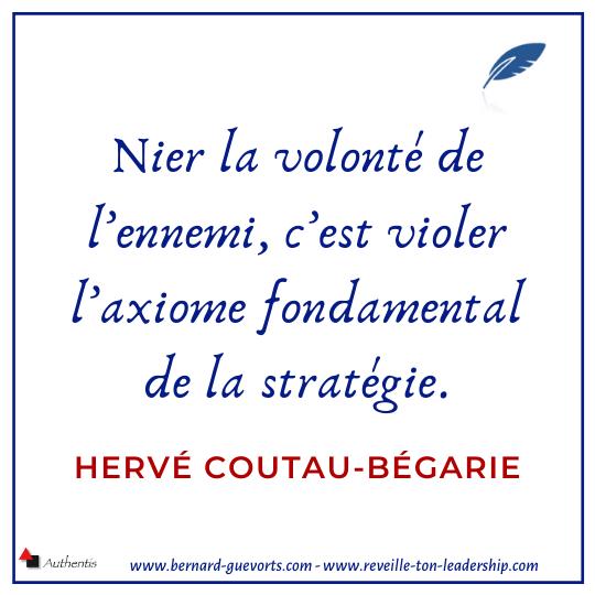 Citation sur la stratégie Coutau-Begarie