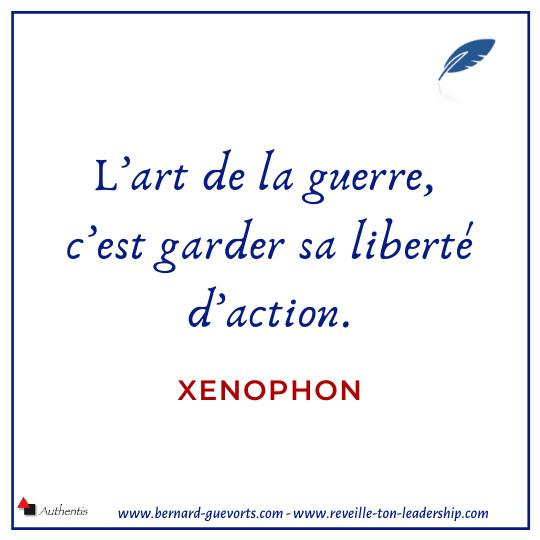Citation de Xenophon sur l'art de la guerre