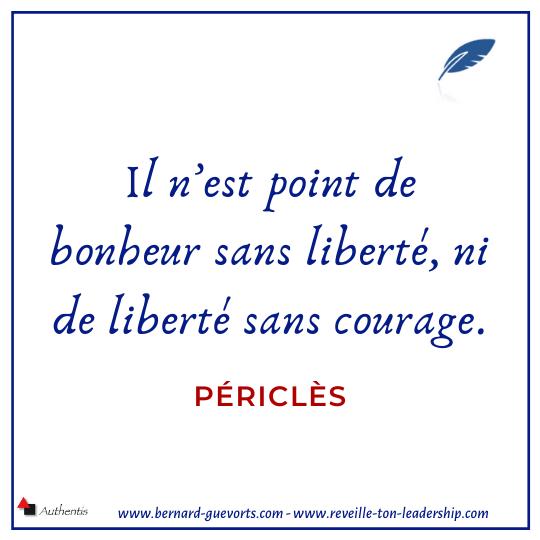 Citation de Périclès sur la liberté