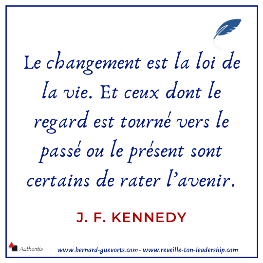 Citation JFK sur changement