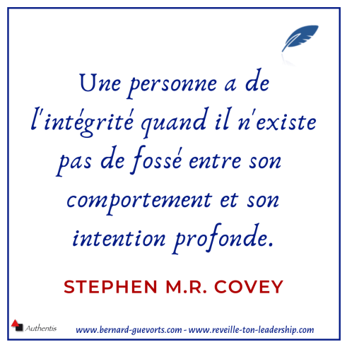 Citation sur l'intégrité de Stephen MR Covey