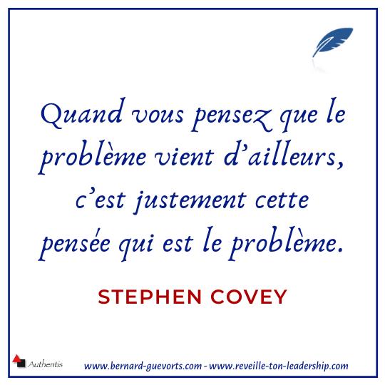 Citation de Stephen Covey sur le problème