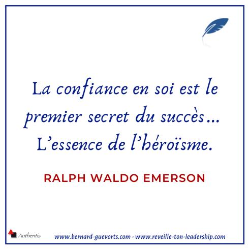 Citation sur la confiance en soi de Ralph Emerson