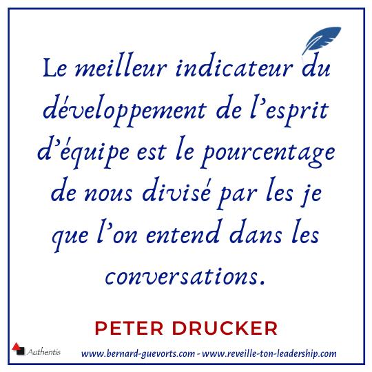 Citation de Peter Drucker sur le collaboratif