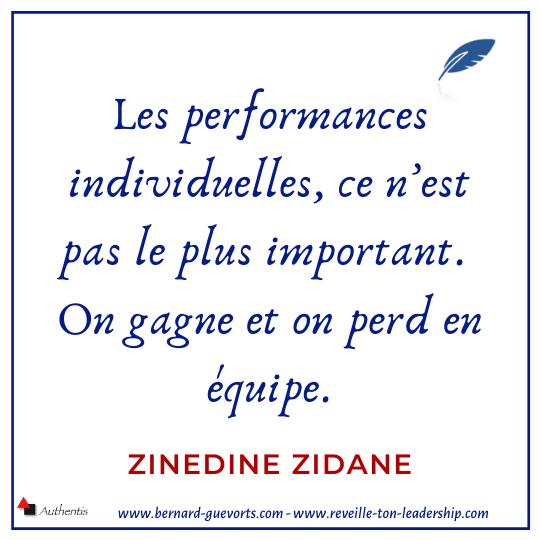 Citation de Zidane sur l'équipe