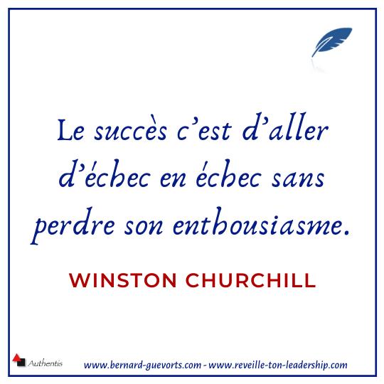 Citation de Churchill sur le succès