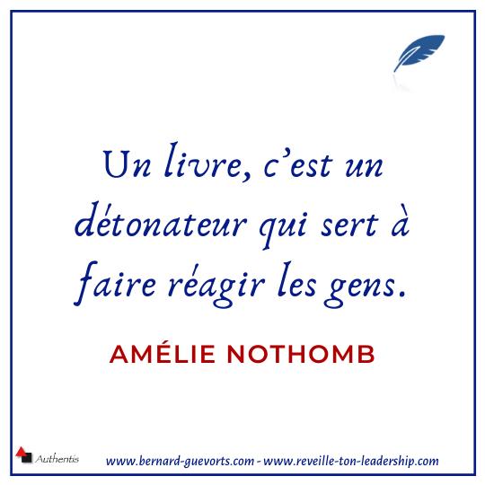 Citation d'Amélie Nothomb sur le livre