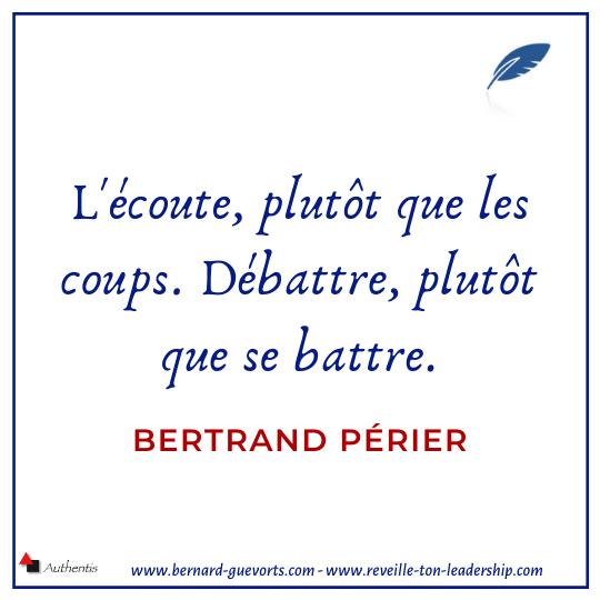 Citation sur la prise de parole de Bertrand Périer