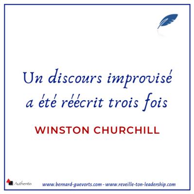 Citation de Churchill sur l'improvisation